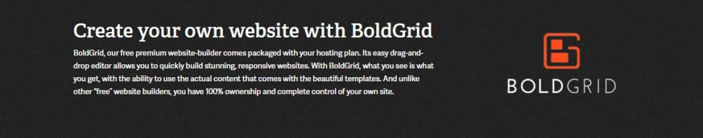 BoldGrid is included in all shared plans.